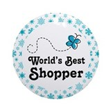 Worlds Best Shopper Ornament (Round)