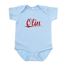 Olin, Vintage Red Infant Bodysuit