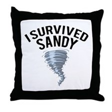 I Survived Hurricane Sandy Throw Pillow