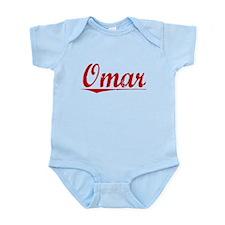 Omar, Vintage Red Infant Bodysuit