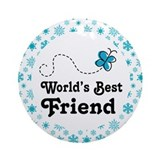 Worlds Best Friend Ornament (Round)