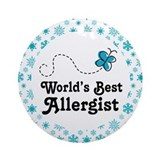 Allergist (Worlds Best) Gift Ornament (Round)