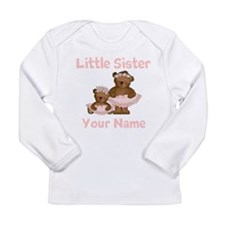 Little Sister Ballet Personalized Long Sleeve Infa