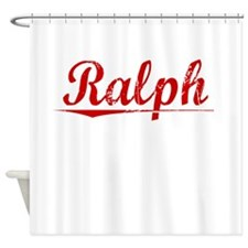 Ralph, Vintage Red Shower Curtain