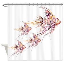 Whimsical Angelfish Shower Curtain