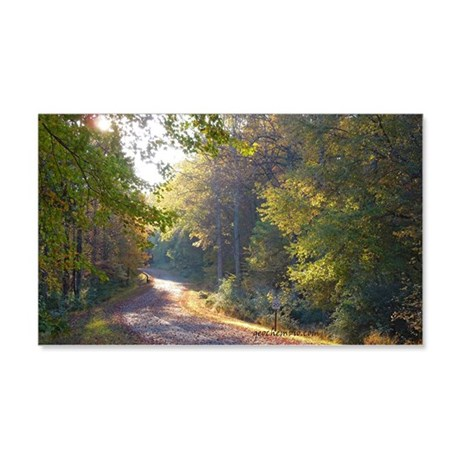 Park trail in September 20x12 Wall Decal
