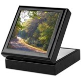 Park trail in September Keepsake Box