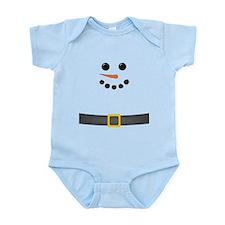 Snowman Face Infant Bodysuit