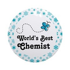 Chemist (Worlds Best) Gift Ornament (Round)