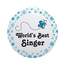 Singer (Worlds Best) Choir Gift Ornament (Round)