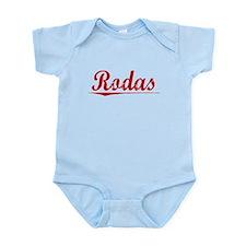 Rodas, Vintage Red Infant Bodysuit