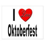 I Love Oktoberfest Small Poster