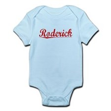 Roderick, Vintage Red Infant Bodysuit