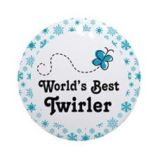 Worlds Best Twirler Ornament (Round)