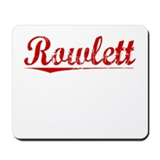 Rowlett, Vintage Red Mousepad