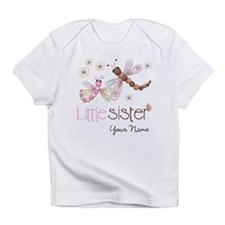 Little Sister Dragonfly Personalized Infant T-Shir