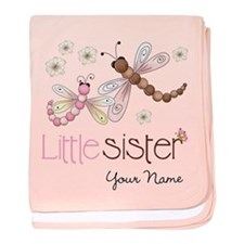 Little Sister Dragonfly Personalized baby blanket