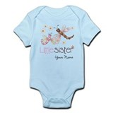 Little Sister Dragonfly Personalized Onesie