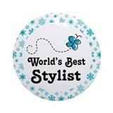 Worlds Best Stylist Ornament (Round)