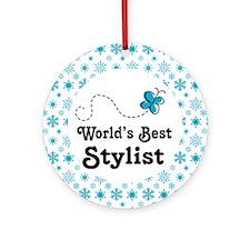 Worlds Best Stylist Ornament (Round)