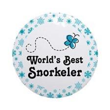 Snorkeler Gift Ornament (Round)