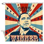 Barack Obama Winner 2012 Shower Curtain