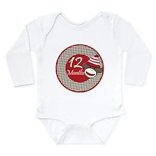 Sock Monkey 12 Months Milestone Long Sleeve Infant