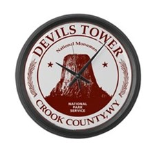 Devils Tower Large Wall Clock