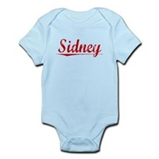 Sidney, Vintage Red Infant Bodysuit