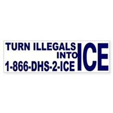 TURN ILLEGALS INTO ICE - Bumper Bumper Sticker