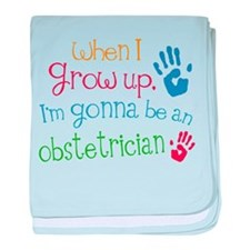 Kids Future Obstetrician baby blanket