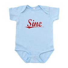 Sine, Vintage Red Infant Bodysuit