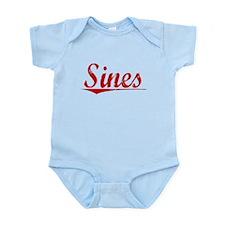 Sines, Vintage Red Infant Bodysuit