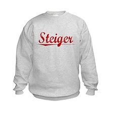 Steiger, Vintage Red Sweatshirt