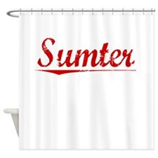 Sumter, Vintage Red Shower Curtain