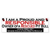 Proud and Responsible Bumper Car Sticker