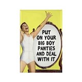Big Boy Panties Rectangle Magnet