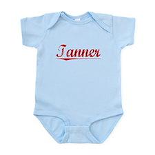 Tanner, Vintage Red Infant Bodysuit
