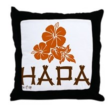 Funny Mixed race Throw Pillow