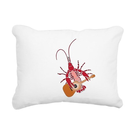 Crayfish Guitarist Rectangular Canvas Pillow