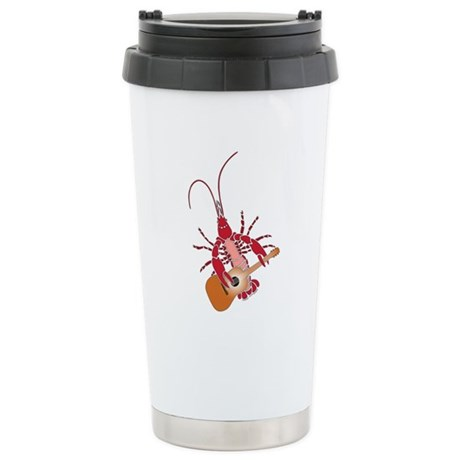 Crayfish Guitarist Ceramic Travel Mug