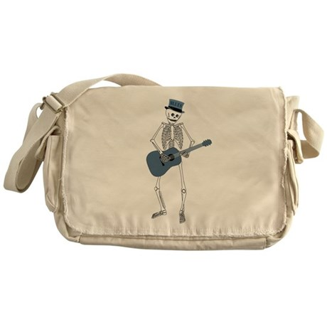 Bluesman Skeleton Messenger Bag