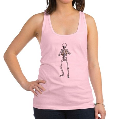 Skeleton Bone Player Racerback Tank Top