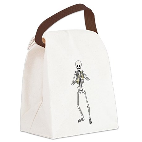 Skeleton Bone Player Canvas Lunch Bag