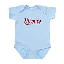 Vicente, Vintage Red Infant Bodysuit