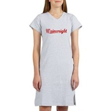 Wainwright, Vintage Red Women's Nightshirt