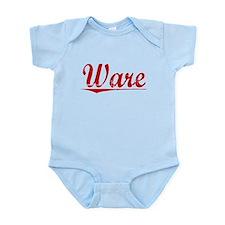 Ware, Vintage Red Infant Bodysuit