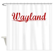 Wayland, Vintage Red Shower Curtain