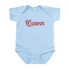 Weaver, Vintage Red Infant Bodysuit