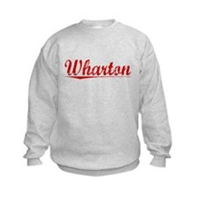 Wharton, Vintage Red Sweatshirt
